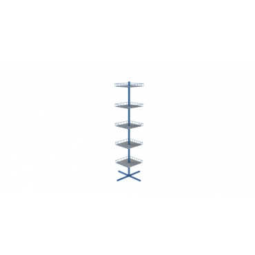 Stand rotativ rectangular cu protectie raft